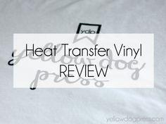 Heat transfer vinyl for Silhouette. Heat transfer vinyl review. Heat Transfer Warehouse.