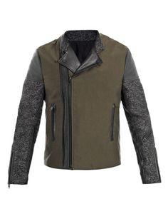 Balenciaga tweed and leather biker jacket HK$17,590