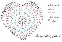 Ideas Crochet Coasters Diagram English For 2019 Col Crochet, Crochet Diagram, Crochet Art, Crochet Squares, Crochet Motif, Crochet Doilies, Single Crochet, Crochet Stitches, Crochet Patterns