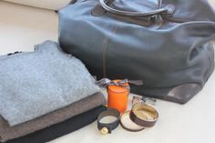 Packing: Banjo and Matilda cashmere, Rachael Ruddick cuff, Hermes. Easy weekend wear.