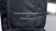 Water Resistant Material for Urban Activity http://www.bm-bag.jp/