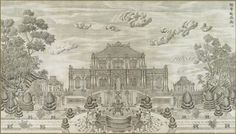 Giuseppe Castiglione, Architectural drawings for the Gardens of Perfect Brightness 1747-1759.