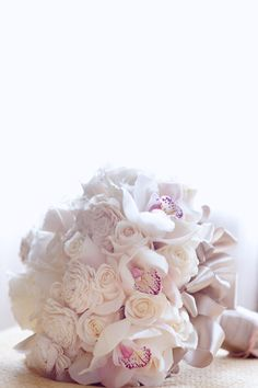 rose and orchid bride bouquet
