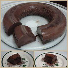 Pudim de chocolate de microondas  - para uma Páscoa com #foconadieta - Confira esta e outras receitas #dukan no Dieta e Receitas!