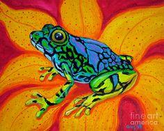 Nick Gustafson  - Colorful Frog Fine Art Print