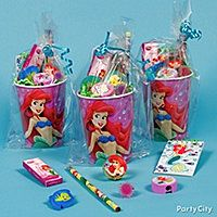 LITTLE MERMAID CUPS FAVORS