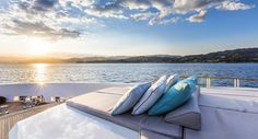 Landscape from a yatch decorated by Ancona Italy, Outdoor Spaces, Outdoor Decor, Sicily Italy, Super Yachts, Cabo San Lucas, Luxury Life, Terrazzo, Miami Beach
