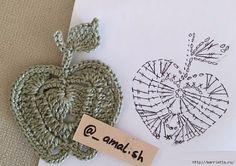 Mesmerizing Crochet an Amigurumi Rabbit Ideas. Lovely Crochet an Amigurumi Rabbit Ideas. Crochet Diagram, Crochet Chart, Crochet Motif, Irish Crochet, Crochet Doilies, Crochet Stitches, Crochet Patterns, Crochet Appliques, Crochet Apple