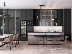 Modern Home Decor Kitchen Kitchen Sets, Home Decor Kitchen, Kitchen Furniture, Kitchen Interior, Room Kitchen, Modern House Design, Modern Interior Design, Interior Design Courses Online, Apartment Interior Design