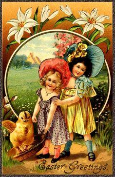 pretty vintage Easter postcard
