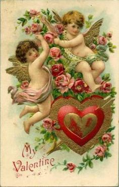 Antique Valentine Day Postcard