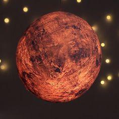 Papier-Mâché Moon Lamp
