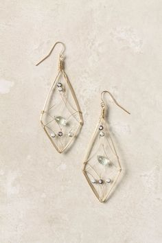 simple wire wrapped earrings