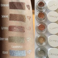 « Beautiful #SWATCHES ➡️ #Metallics ✨ NEW GEL LINERS AND MATCHING PENCILS!!!!!!! @colourpopcosmetics #ComingSoon What's on your list? ✌️ #Trendmood… »