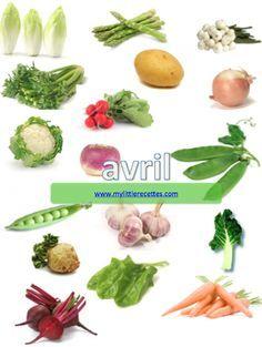 Produits de saison, avril, légumes - My Little Recettes
