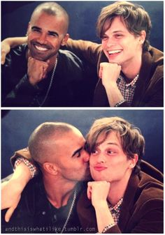 Shemar Moore with Matthew Gray Gubler  Morgan and Spencer Criminal Minds ♥