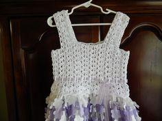 Blusa para Vestido 8 a 10 años Crochet