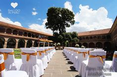 SAY I Do in Peru - Beautiful historic cloistered courtyard in a restored monastery of the XVI century. The venue is located in Cusco's charming city centre, only few blocks from the main square and 10-minutes drive from Cusco International Airport. An elegant venue for your destination wedding in Peru. Discover more on www.sayidoinperu.com adn follow us on Facebook: https://www.facebook.com/sayidoinperu