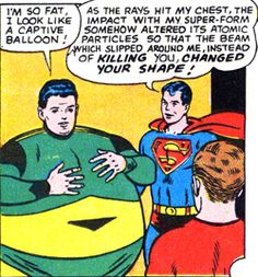 The Matter-Eater Lad eateth too much matter. From Adventure #345 (1966). Art by Curt Swan.