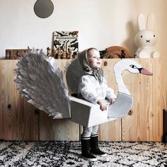 The prettiest swan by featuring our quilted bonnet 🦢❤ Juliette, Costume, Swan, Dinosaur Stuffed Animal, Toys, Instagram, Pretty, Crafts, Animals