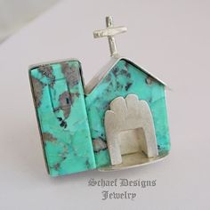 Buddy Lee Kingman Turquoise & Sterling Silver Old Mission Ring | Schaef Designs | New Mexico