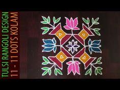Rose Flower Kolam With Dots Indian Rangoli Designs, Rangoli Designs With Dots, Invitation Design, Invite, Invitations, Kolam Dots, Flower Rangoli, Paper Crafts, Diy Crafts