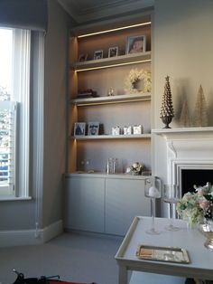 Alcove Cabinets, Alcoves, Shelving, Bookcase, Living Room, Home Decor, Shelves, Decoration Home, Room Decor