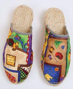 Alpargatas Espadriles, Alpargatas Bordadas, Diseño Calzado, Calzado Artesanal, Bordado, De Patchwork, Zapatillas Patchwork, Ojotas Elegante, Zapatos Finoss