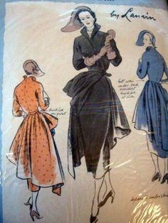 Vogue Paris Original by Lanvin   1950s Dress