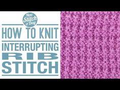 The Interrupted Rib Stitch :: Knitting Stitch #128