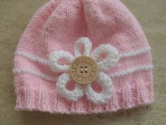 Knitting Pattern Baby Girl/Boy Beanie/Hats  by MarilynsCreation, €2.00