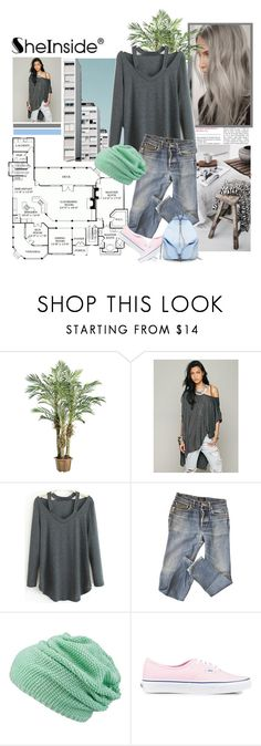 """""""Sheinside"""" by miska-miska ❤ liked on Polyvore featuring A.P.C., maurices, Vans and Rebecca Minkoff"""