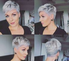Today we have the most stylish 86 Cute Short Pixie Haircuts. Pixie haircut, of course, offers a lot of options for the hair of the ladies'… Continue Reading → Haircut For Older Women, Short Hair Cuts For Women, Short Hairstyles For Women, Shag Hairstyles, Quick Hairstyles, Straight Hairstyles, Super Short Hair, Short Grey Hair, Cheveux Courts Funky