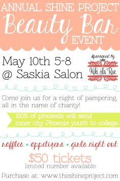 Help send kids to college and get pampered at the same time! #Phoenix