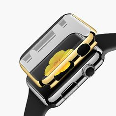 Apple watch case Yellow Gold apple watch case Rose by Decouart
