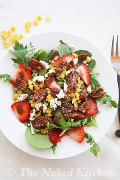 Yellow Split Pea Salad with Strawberry Balsamic Dressing