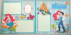 The Little Mermaid Double Page Layout