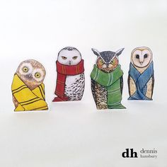 Check out this item in my Etsy shop https://www.etsy.com/listing/494633151/hogwarts-house-owls-standees