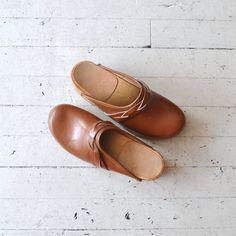 1970s clogs / vintage 70s shoes / Braided Plait by DearGolden, $58.00