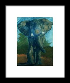 A wildlife painting of an African elephant created with soft (chalk) pastels on textured paper - Kelly Goss Art Elephant Canvas, Elephant Print, Elephant Throw Pillow, Throw Pillows, Canvas Art, Canvas Prints, Art Prints, Thing 1, Wall Art For Sale
