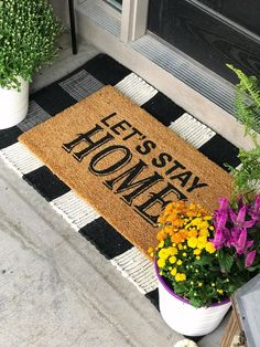 Life Love Larson: Outdoor Fall Home Tour 2018 Farmhouse Style Decorating, Porch Decorating, Farmhouse Decor, Decorating Ideas, Decor Ideas, White Exterior Houses, Modern Farmhouse Exterior, Farmhouse Front, Front Door Mats