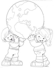 Earth Day Drawings on Earth Day 2019 - 22 April 2019 Earth Day Coloring Pages, Colouring Pages, Coloring Sheets, Adult Coloring, Coloring Books, Earth Day Crafts, Earth Day Activities, Child Day, Coloring Pages For Kids