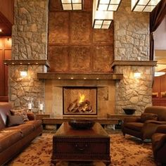 1000 images about fireplaces country style on pinterest for French country stone fireplace