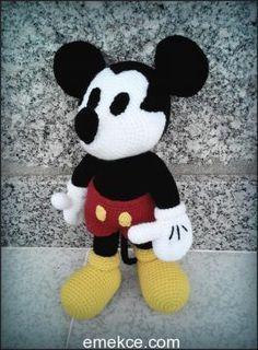 Amigurumi Mickey Mouse Yapılışı