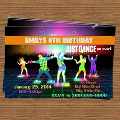 Just Dance Party Invitation