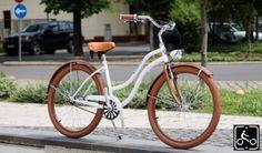Egyedi Agyváltós Női Cruiser Kerékpár 3sp - Matt feher-Barna