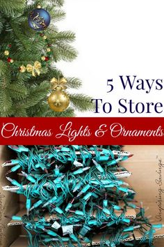 Learn some tips to organize and store Christmas lights and Ornaments this year. These tips will help to make decorating easier for next year.