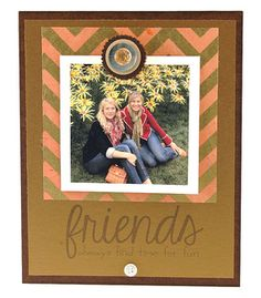 friends cute instagram photo frame chevron
