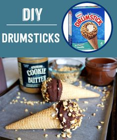 Homemade Cookie Butter Drumsticks | 13 Classic Ice Cream Truck Treats You Can Make At Home