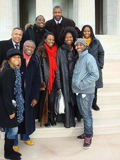 Denzel Washington And His Family | ... Denzel Washington and his family. This was at the first inauguration